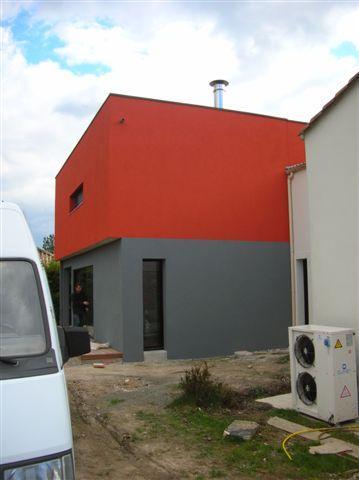 Lift face enduit maison neuve vend e nantes for Peinture facade couleur