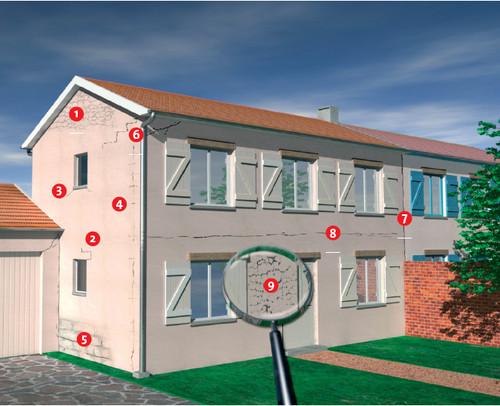 Traitement des fissures sur façade de maison en Vendée et Nantes